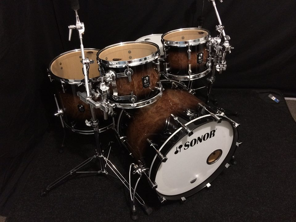 Sonor Prolite In Walnut Brown Burst Shell Pack Drum