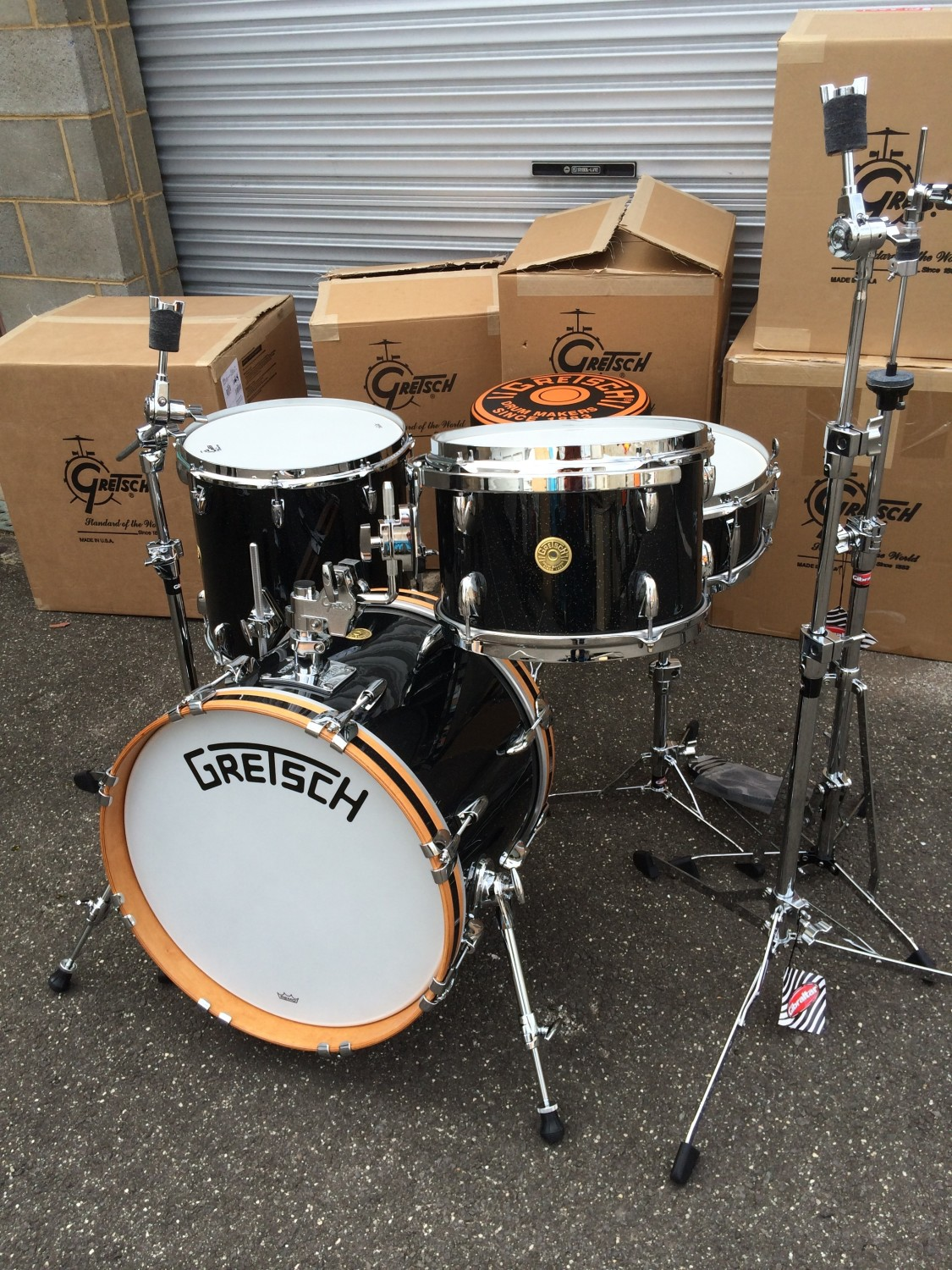 Gretsch BroadKaster 18 u2033 Modern Bop Kit in  u2018Anniversary Sparkle u2019   Drum Drum Warrnambool
