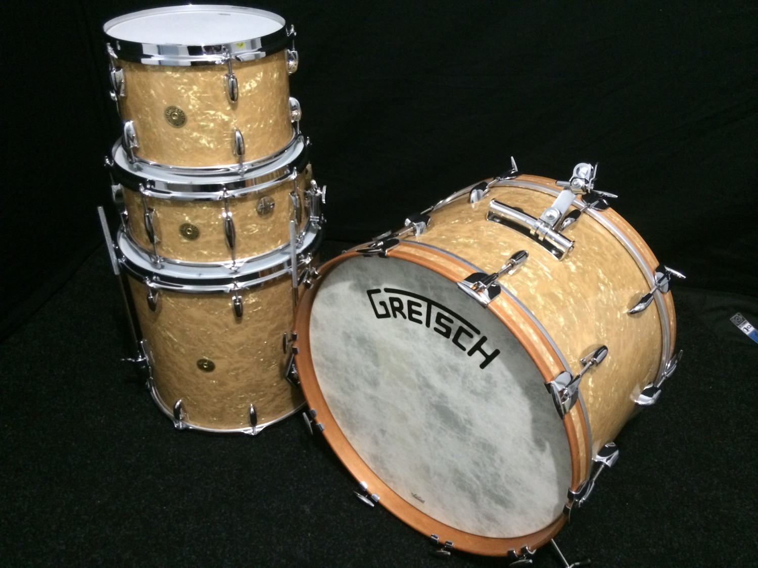 Gretsch Broadkaster 22″ Classic Heritage Kit In 'antique Pearl'